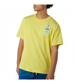 Camiseta para hombre amarillo NEW BALANCE ESSENTIALS TAG TEE - MT11516