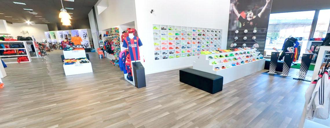 Imagen interior tienda Deportes González